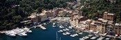 High angle view of boats docked at a harbor, Italian Riviera, Portofino, Italy