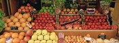 Close-Up Of Fruits In A Market, Rue De Levy, Paris, France