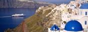 Buildings in a valley, Santorini, Cyclades Islands, Greece
