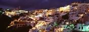 Town at night, Santorini, Greece