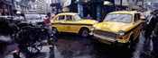 Traffic in a street, Calcutta, West Bengal, India