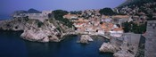 Town at the waterfront, Lovrijenac Fortress, Bokar Fortress, Dubrovnik, Croatia