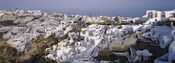 High angle view of a town, Santorini, Greece (day)