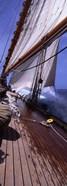 Sailboat in the sea, Antigua (vertical)