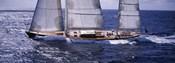 Sailboat in the sea, Antigua (horizontal)