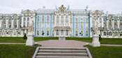 Blue Facade of Catherine Palace, St. Petersburg, Russia