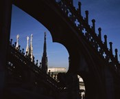 Low angle view of a cathedral, Duomo Di Milano, Milan, Lombardy, Italy