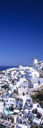 Aerial view of houses in a town, Oia, Santorini, Cyclades Islands, Greece