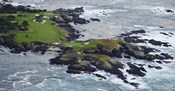 Golf course on an island, Pebble Beach Golf Links, Pebble Beach, Monterey County, California, USA