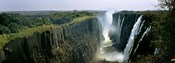 Looking down the Victoria Falls Gorge from the Zambian side, Zambia