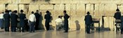 People praying at Wailing Wall, Jerusalem, Israel