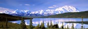 Snow Covered Mountains, Wonder Lake, Denali National Park, Alaska