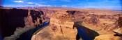 Muleshoe Bend at a river, Colorado River, Arizona, USA