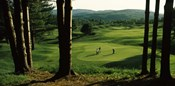 Four people playing golf, Country Club Of Vermont, Waterbury, Washington County, Vermont, USA