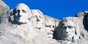 Mount Rushmore in White