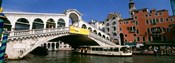 Low angle view of a bridge across a canal, Rialto Bridge, Venice, Italy