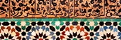 Close-up of design on a wall, Ben Youssef Medrassa, Marrakesh, Morocco