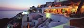 Terrace overlooking the Caldera, Santorini, Greece