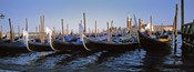 View of gondolas, Venice, Italy