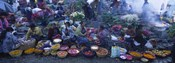 High Angle View Of A Group Of People In A Vegetable Market, Solola, Guatemala