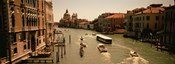 High angle view of boats in water, Venice, Italy