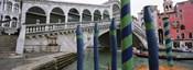 Arch bridge across a canal, Rialto Bridge, Grand Canal, Venice, Italy