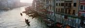 Gondolas in the Grand Canal, Venice, Italy (black & white)