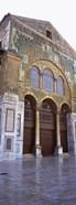 Mosaic facade of a mosque, Umayyad Mosque, Damascus, Syria