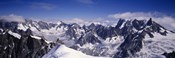 High angle view of a mountain range, Mt Blanc, The Alps, France