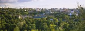 High angle view of a city, Vilnius, Trakai, Lithuania