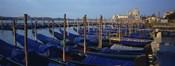 Gondolas moored at a harbor, Santa Maria Della Salute, Venice, Italy