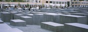 Group of people walking near memorials, Memorial To The Murdered Jews of Europe, Berlin, Germany