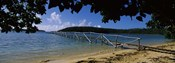 Wooden dock over the sea, Vava'u, Tonga, South Pacific