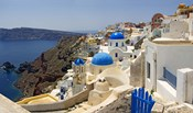 High angle view of a church, Oia, Santorini, Cyclades Islands, Greece