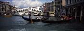 Tourists on gondolas, Grand Canal, Venice, Veneto, Italy