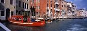 Red Gondola, Grand Canal, Venice, Veneto, Italy