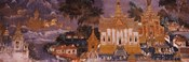Ramayana murals in a palace, Royal Palace, Phnom Penh, Cambodia