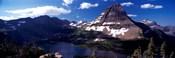 Mountain range at the lakeside, Bearhat Mountain, Hidden Lake, Us Glacier National Park, Montana, USA