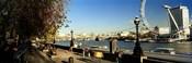 Ferris wheel at the riverbank, Millennium Wheel, Thames River, London, England