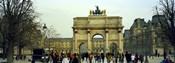 Tourists near a triumphal arch, Arc De Triomphe Du Carrousel, Musee Du Louvre, Paris, Ile-de-France, France