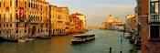 Vaporetto water taxi in a canal, Grand Canal, Venice, Veneto, Italy
