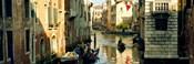 Boats in a canal, Castello, Venice, Veneto, Italy