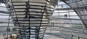 Mirrored cone at the center of the dome, Reichstag Dome, The Reichstag, Berlin, Germany