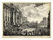 Veduta della Vasta Fontana di Trevi
