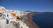 High angle view of a town on an island, Oia, Santorini, Cyclades Islands, Greece