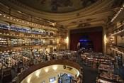 Interiors of a bookstore, El Ateneo, Avenida Santa Fe, Buenos Aires, Argentina