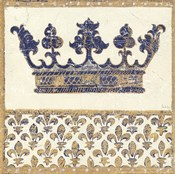 Regal Crown Indigo and Cream