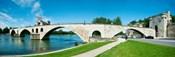 Bridge across a river, Pont Saint-Benezet, Rhone River, Avignon, Vaucluse, Provence-Alpes-Cote d'Azur, France