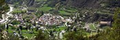 High angle view of a town, Annot, Alpes-de-Haute-Provence, Provence-Alpes-Cote d'Azur, France