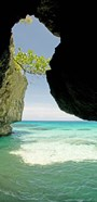 Cliffside cave at Xtabi Hotel, Negril, Westmoreland, Jamaica